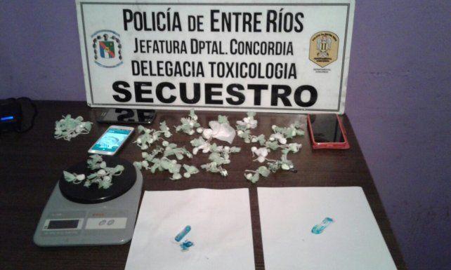 Detienen a una pareja y secuestran droga en operativos en Concordia