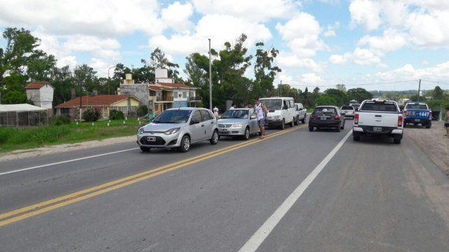 Choque en cadena en Colonia Avellaneda