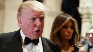 El presidente electo Donald Trump y su esposa