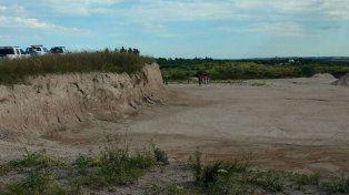 El lugar donde fueron hallados los restos.