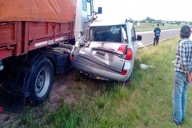 Violento accidente en la Autovía 14