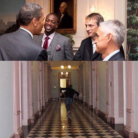 Tony Hawk despidió a Obama y agradeció que lo dejó patinar en la Casa Blanca