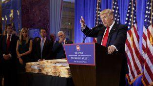 Trump, desafiante en su primera conferencia en seis meses