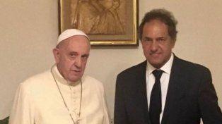 El papa Francisco recibió a Daniel Scioli en el Vaticano