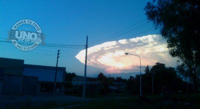 El cielo vuelve a sorprender a los paranaenses