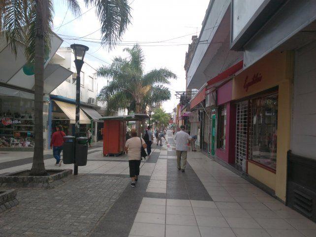 Así estaba la peatonal San Martín de Paraná este sábado a las 8.