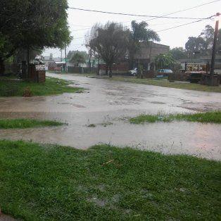 La lluvia volvió a golpear a la capital provincial: las imágenes