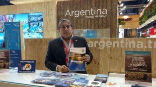 Marcelo Quiroga llevó las propuestas turísticas de Paraná a Madrid. Foto Municipalidad de Paraná.