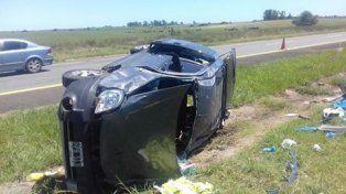 Siete personas que regresaban de Brasil se accidentaron en la ruta 14