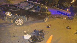 Un motociclista fue hospitalizado tras chocar con un auto