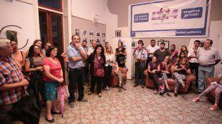 Los trabajadores en la asamblea que se realizó hoy en LT14. FotoUNOJuan Ignacio Pereira.
