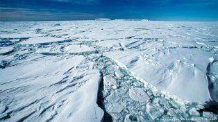Está a punto de desprenderse gran barrera de hielo en la Antártica