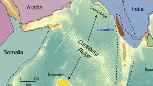 Hallaron restos de un continente perdido bajo el océano Índico