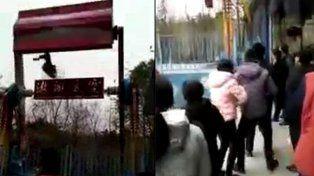 El momento mortal en que una niña de 14 años sale despedida de una atracción en un parque de diversiones