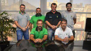 Dirigentes y entrenadores del Verde estuvieron en UNO.