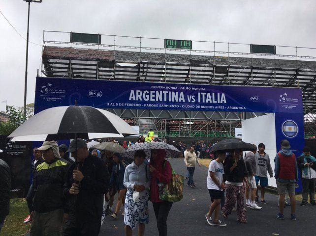 La lluvia interrumpió el partido entre Berlocq y Lorenzi