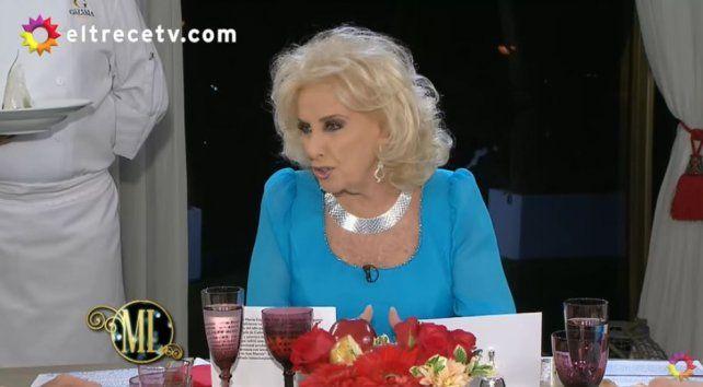 Mirtha Legrand incomodó a María Eugenia Vidal con una pregunta sobre su ausencia durante las inundaciones