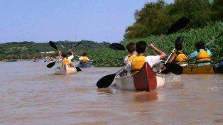 La propuesta consistió en compartir un recorrido por la Isla Curupí el fin de semana.