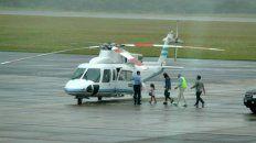 El helicóptero de la Presidencia de vacaciones en Punta del Este.
