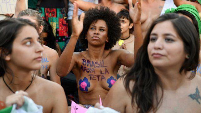 La manifestación en Buenos Aires.