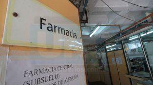 Entrega de fármacos. El San Martín es uno de los 64 hospitales bajo la órbita de Salud Provincial.