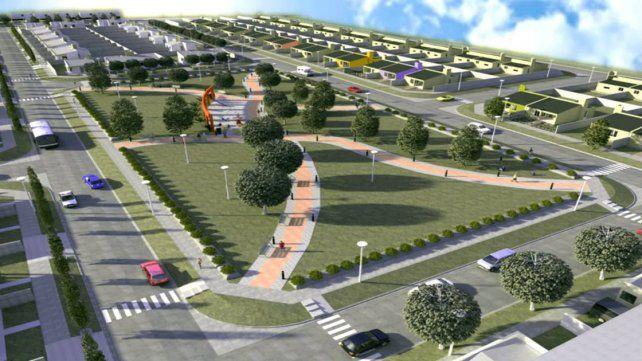 Proyecto. La planificación presenta una gran plaza central.