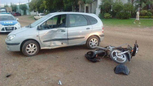 Un herido grave en un accidente de tránsito
