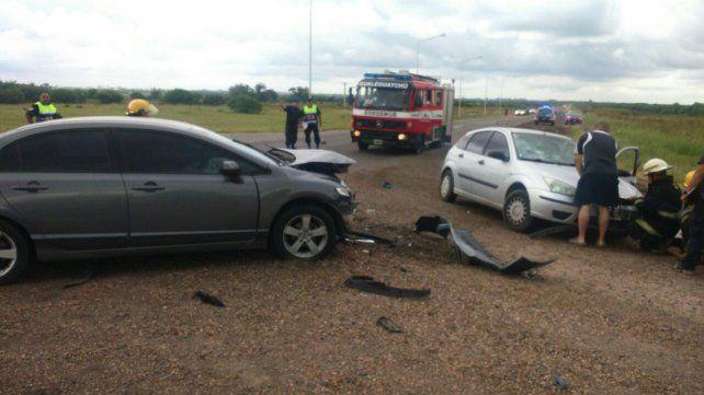 Fuerte choque dejó cuatro personas heridas en Gualeguaychú