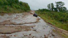 recomiendan circular con precaucion y no transitar caminos de tierra