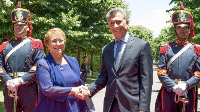 Macri y y Bachelet encabezaron el acto por el bicentenario de la Batalla de Chacabuco