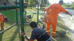 Obras. Vecinalistas gestionan diversos trabajos ante la comuna.