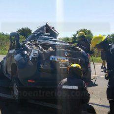 Un hombre murió al volcar su auto en la ruta 26