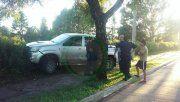 Menor robó la camioneta de su padre y chocó
