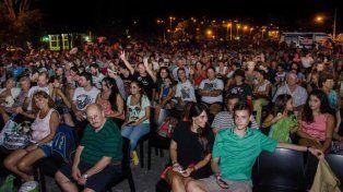 Mucha gente fue a ver Gilda en el Puerto Nuevo