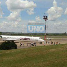 El plantel bajó en el aeropuerto y parte rumbo a Santa Fe.
