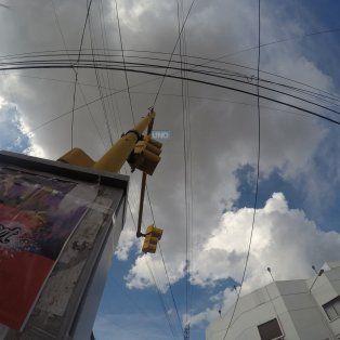El cielo en el centro de Paraná. Foto UNOJuan Manuel Kunzi.