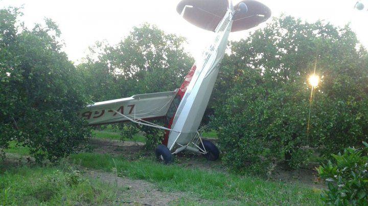 Piloto se salvó milagrosamente al caer su avioneta