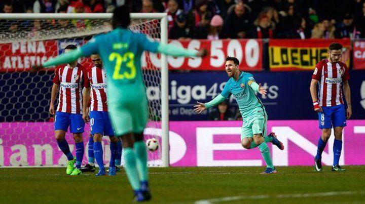 Messi marcó sobre la hora y Barcelona venció al Atlético Madrid