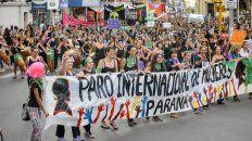#8m: masivo acto y movilizacion de las mujeres en parana