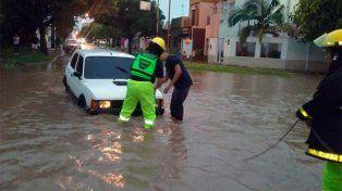 El temporal provocó anegamientos en Concepción del Uruguay