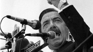 Alfonsín. Fue ícono de la recuperación de la democracia en 1983.