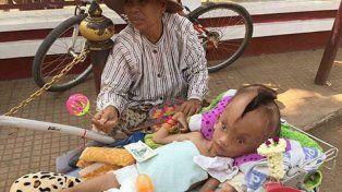 La abuela con el chiquito