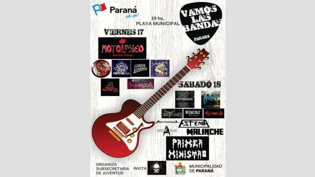 Recitales de rock-metal en la Costanera