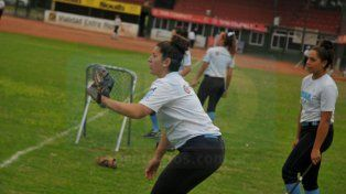 Las chicas entrenaron a diario en la capital entrerriana durante estos días.