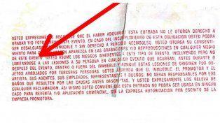 Qué dice la letra chica de la entrada del recital del Indio Solari en Olavarría