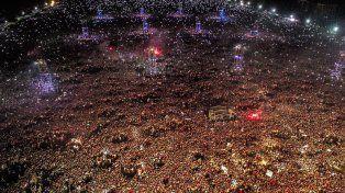La vista aérea del recital. Foto: AFP / Pablo Hugo Funes