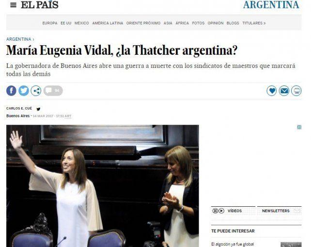 En España compararon a María Eugenia Vidal con Margaret Thatcher
