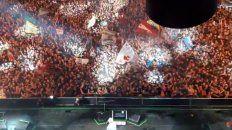 el indio en olavarria: asi se vio jijiji desde el escenario