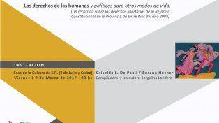Presentan un libro que analiza la Constitución de Entre Ríos en clave feminista