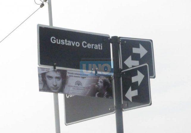A Gustavo Cerati se lo recuerda, a su calle no